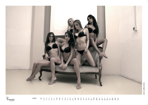 Mese di giugno, calendario cheeky dolls excite bynight