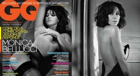 Monica Bellucci si mette a nudo su GQ con alcune scatti hot