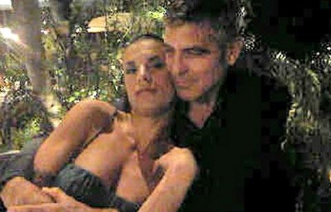 "Elisabetta Canalis ""incastra"" George Cloney, i due paparazzati a Roma"